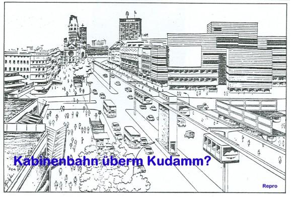 Kabinenbahn überm Kudamm