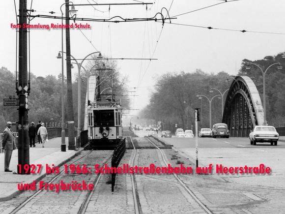 Schnellstraßenbahn auf der Freybrücke